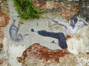Penang street art - Bruce Lee