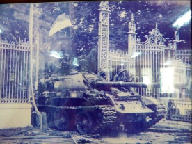 The last days of the war as the NVA enter the Presidential Palace