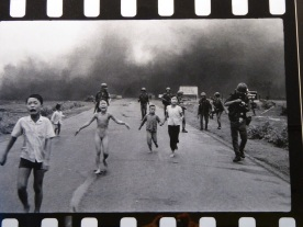 One of the most famous photographs of the Vietnam war. The girl is now living in Canada.