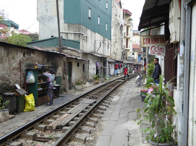 The train route out of Hanoi