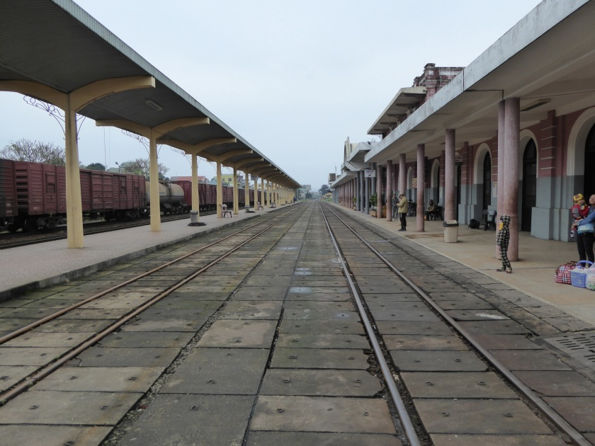 Hue train station - one of the few stations where it is ok to stand in the middle of the tracks to take photos