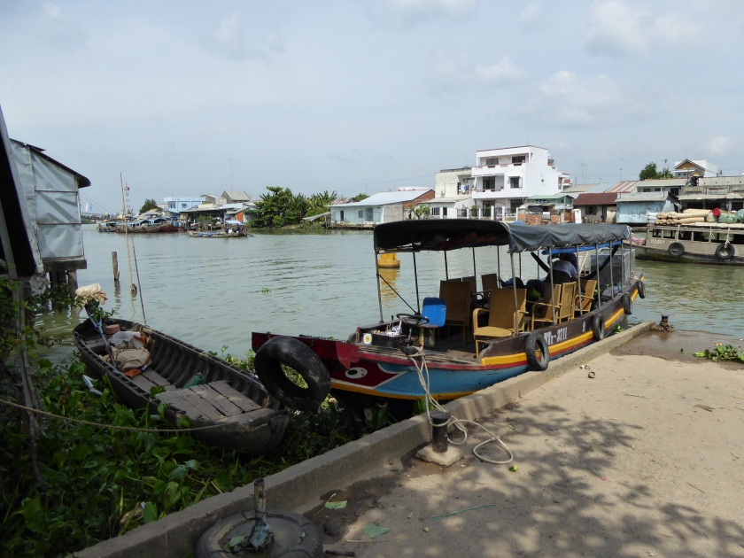 Our boat moored at Vinh Long jetty