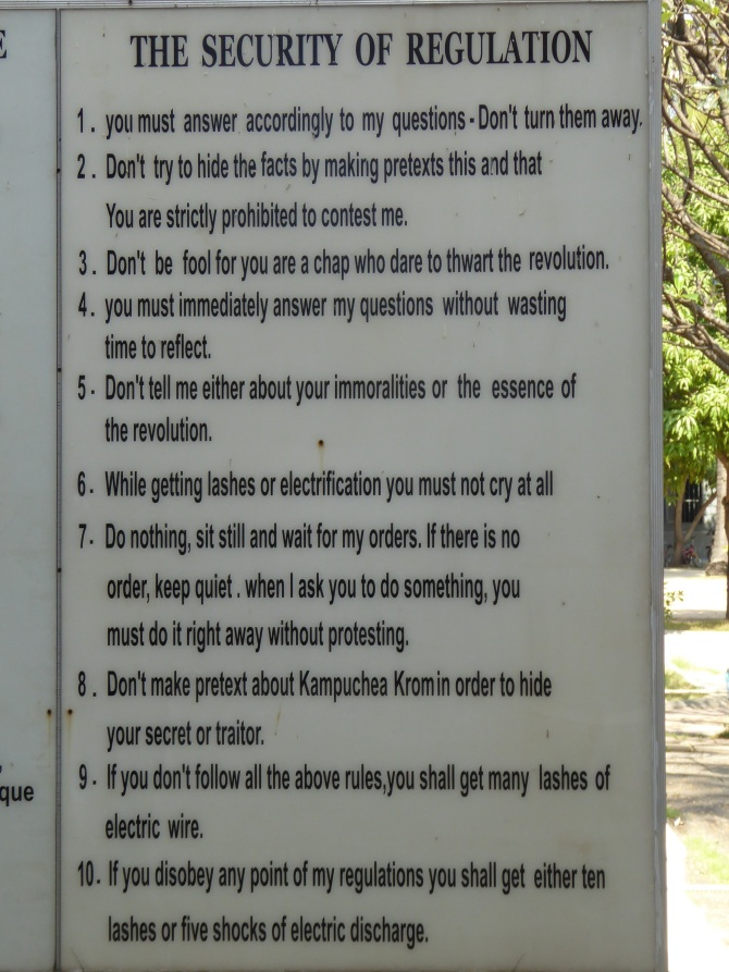 Instruction for inmates - the most horrifying sign I have ever seen..