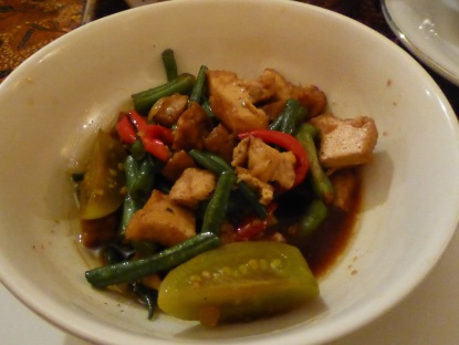 Cap cay. This one is green bean and tofu.