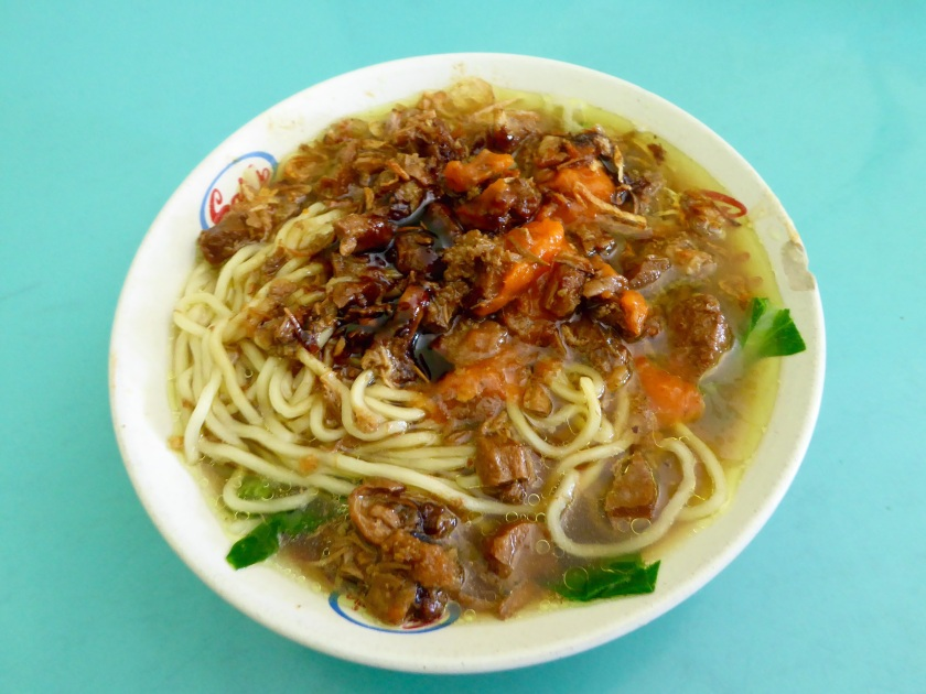 Mie Ayam, soup version.