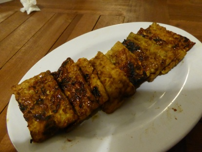 Grilled tempeh