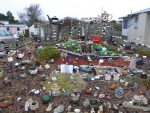 Teapot garden next to the chip shop??