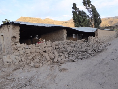 Yanque - earthquake damage